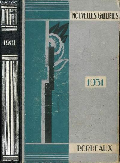 AGENDA NOUVELLES GALERIES 1931 BORDEAUX