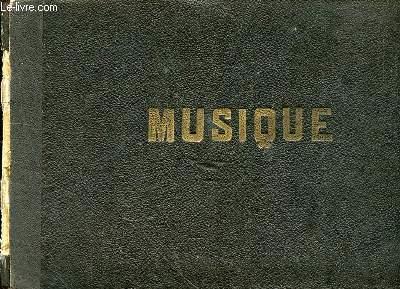 RECUEIL DE PARTITIONS DE MUSIQUE MANUSCRITE - MUSIQUE