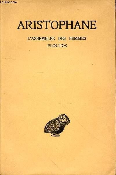 L'ASSEMBLEE DES FEMMES - PLOUTOS - TOME V