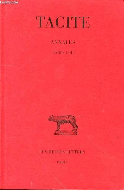 ANNALES LIVRE I - III