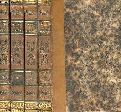 OEUVRES DE BERQUIN EN 4 VOLUMES - TOME 1. L'AMI DES ENFANTS I- TOME 2. L'AMI DES ENFANTS II - TOME 3.LE LIVRE DE FAMILLE - BIBLIOTHEQUE DES VILLAGES - CHOIX DE LECTURES - TOME 4. INTRO A LA CONNAISSANCE DE LA NATURE - LYDIE DE GERSIN - SANDFORD ET MERTON.
