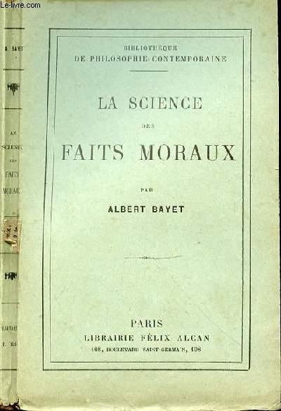 LA SCIENCE DES FAITS MORAUX