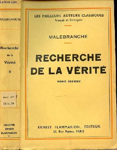 RECHERCHE DE LA VERITE - TOME SECOND