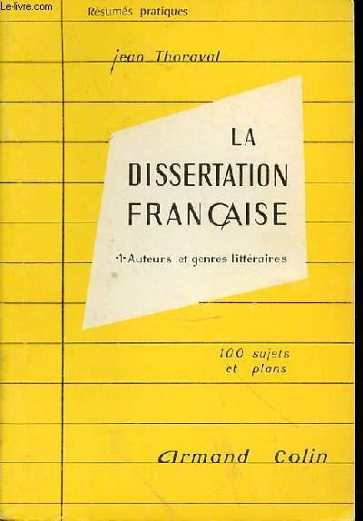 Le plan de la dissertation litteraire