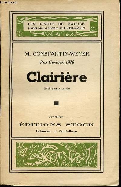CLAIRIERE - RECITS DU CANADA
