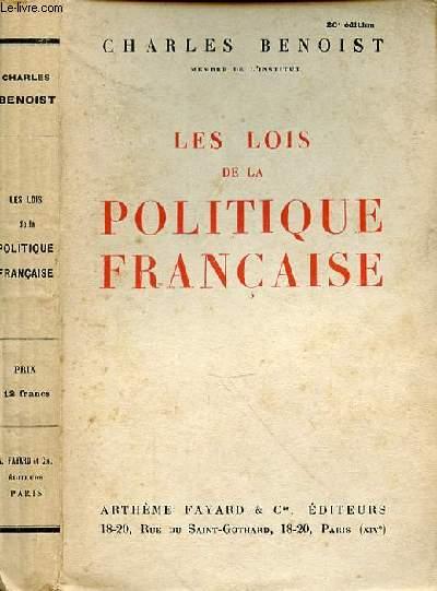 LES LOIS DE LA POLITIQUE FRANCAISE