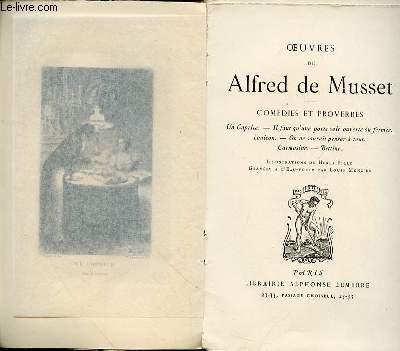 OEUVRES DE ALFRED DE MUSSET - COMEDIES ET PROVERBES