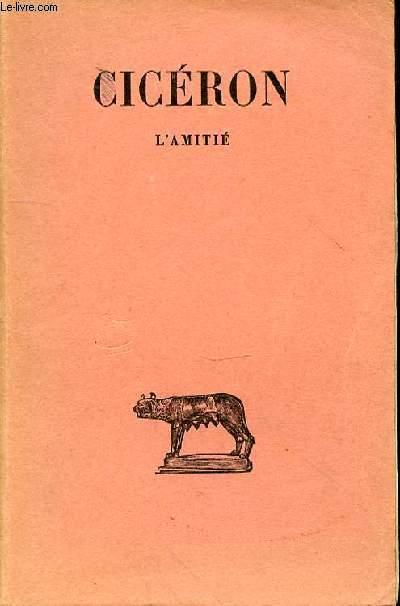 L'AMITIE - oeuvres philosophiques