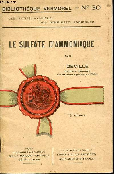 LE SULFATE D'AMMONIAQUE