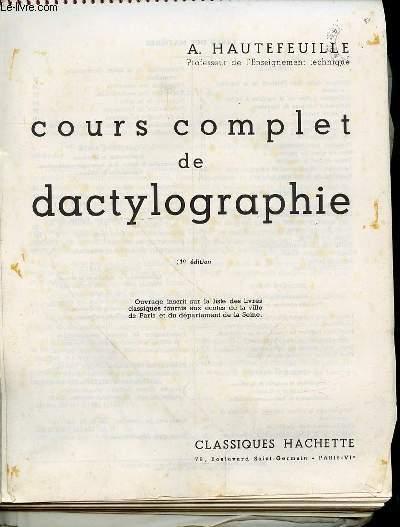 COURS COMPLET DE DACTYLOGRAPHIE- 11e édition