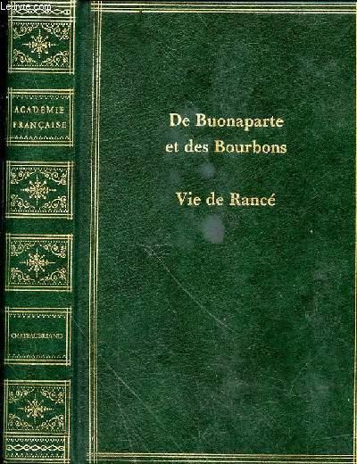 VIE DE RANCE SUIVIE DE DE BUONAPARTE, DES BOURBONS