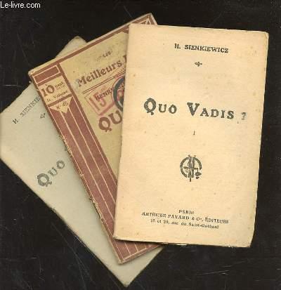 QUO VADIS? TOME 1 - 2 et 3 en 3 volumes