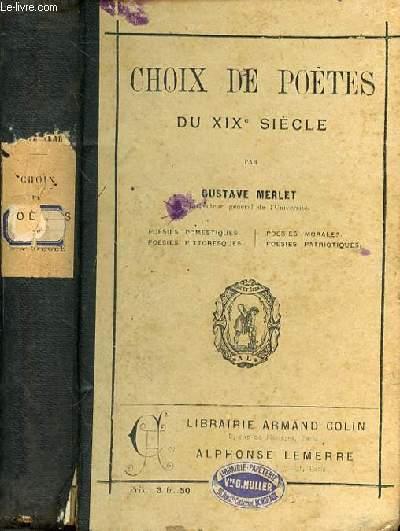 CHOIX DE POETES DU XIXe SIECLE