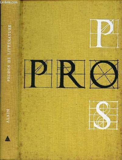 PROPOS DE LITTERATURE  - Edition Précédés de