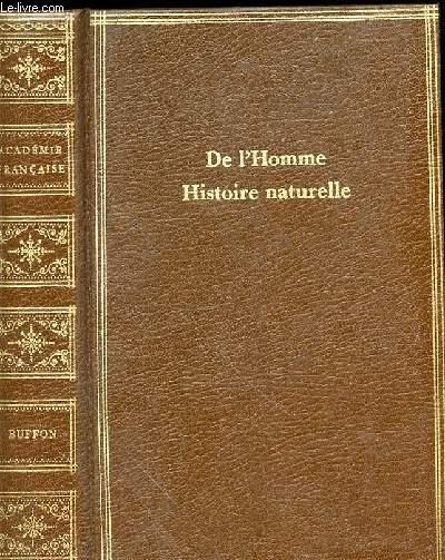 DE L'HOMME - HISTOIRE NATURELLE