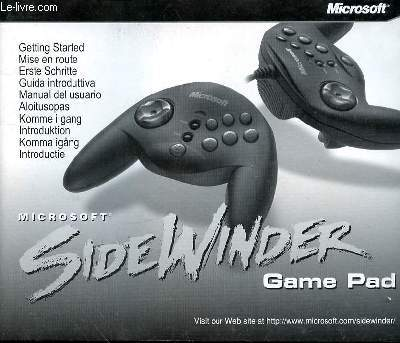 SIDEWINDER - GAME PAD - NOTICE D'UTLISATION