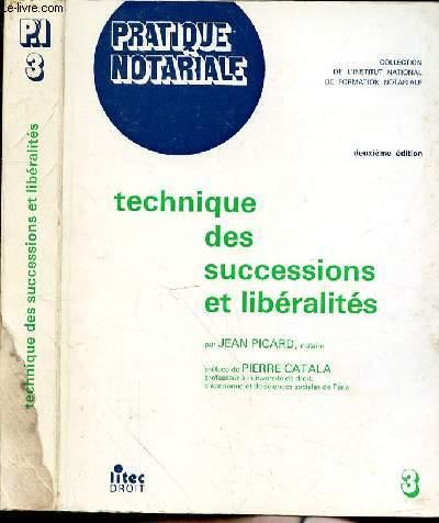 TECHNIQUE DES SUCCESSIONS ET LIBERALITES