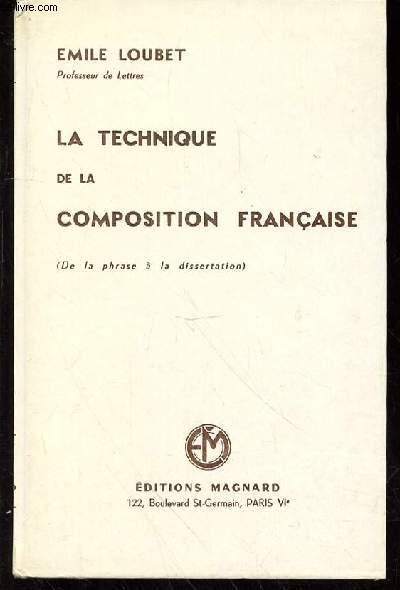 LA TECHNIQUE DE LA COMPOSITION FRANCAISE