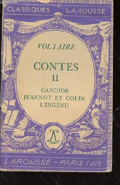 CONTE II - CANDIDE - JEANNOT ET COLIN - L'INGENU