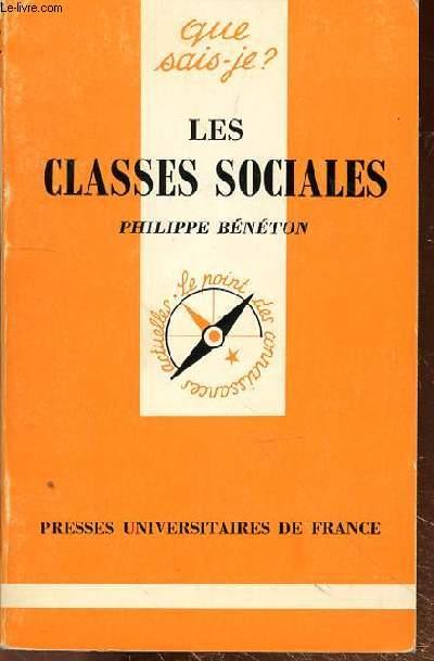 QUE SAIS-JE? - LES CLASSES SOCIALES - N°341
