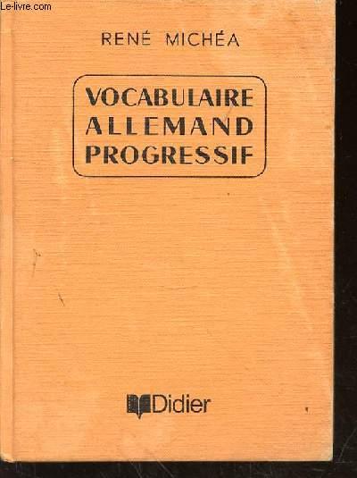 VOCABULAIRE ALLEMAND PROGRESSIF  + LIVRET D'EXERCICES - 2ND EDITION