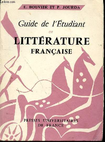 GUIDE DE L'ETUDIANT EN LITTERATURE FRANCAISE