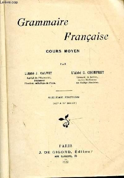 GRAMMAIRE FRANCAISE- COURS MOYEN