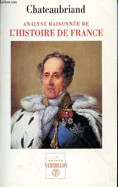 ANALYSE RAISONNEE DE L'HISTOIRE DE FRANCE