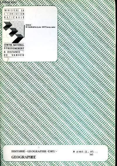HISTOIRE - GEOGRAPHIE - ESEU - REF : B 6402 T 02 262