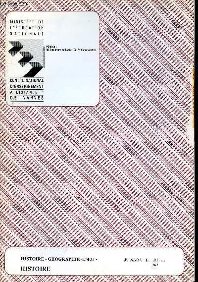 HISTOIRE - GEOGRAPHIE - ESEU - REF : B 6302 T 01 262