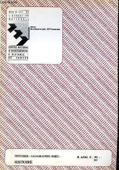 HISTOIRE - GEOGRAPHIE - ESEU - HISTOIRE REF : B 6302 T 03 262