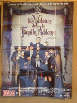 Affiche de cinema  - les valeurs de la famille adams - addams family values