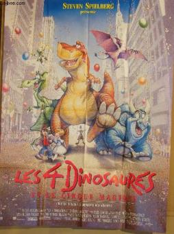 Affiche de cinema - les 4 dinosaures et le cirque magique - we re back! a dinosaur s story