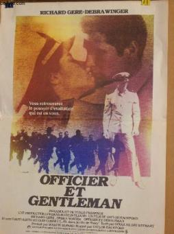 Affiche de cinema - officier et gentleman