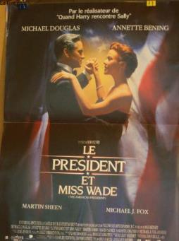 Affiche de cinema - le president et miss wade - the american predient