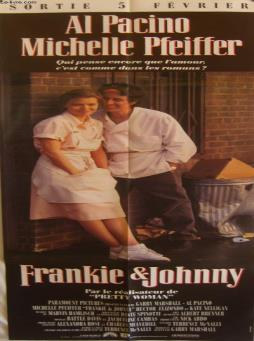 Affiche de cinema - franckie et johnny
