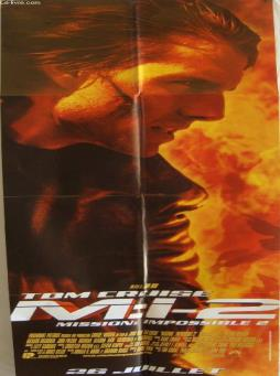 Affiche de cinema - mission impossible 2