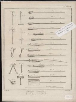 Gravure 18eme siecle - planches originales de l encyclopedie diderot d alembert in folio - n°38 - glaces souflees - operations progressives et outils
