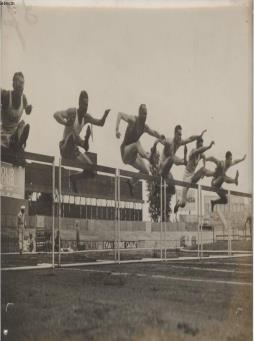Photo ancienne situee - les championnats de france d athletisme