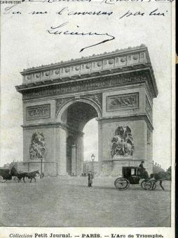 Carte postale - paris - l arc de triomphe