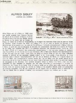 Document philatelique officiel n°29-74 - alfred sisley - canal du loins (n°1812 yvert et tellier)
