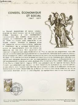 Document philatelique officiel n°41-77 - conseil general et social 1947-1977 (n°1957 yvert et tellier)