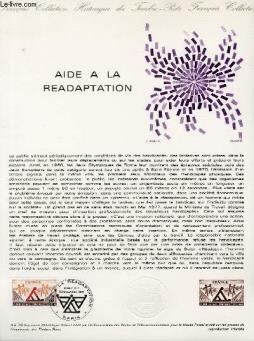 Document philatelique officiel n°45-78 - aide a la readaptation (n°2023 yvert et tellier)