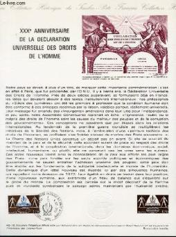 Document philatelique officiel n°48-78 - 30° anniversaire de la declaration universelle des droits de l homme (n°2027 yvert et tellier)
