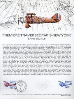 Document philatelique officiel n°25-80 - premiere traversee paris-new-york sans escale (n°av.53 yvert et tellier)