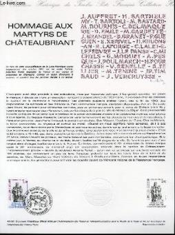Document philatelique officiel n°48-81 - hommage aux martyrs de chateaubriant (n°2177 yvert et tellier)