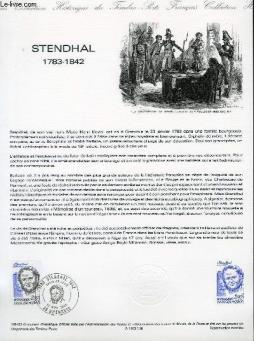 Document philatelique officiel n°38-83 - stendhal 1783 - 1842 (n°2284 yvert et tellier)