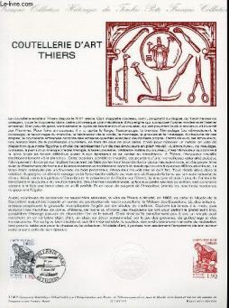 Document philatelique officiel n°11-87 - coutellerie d art thiers (n°2467 yvert et tellier)