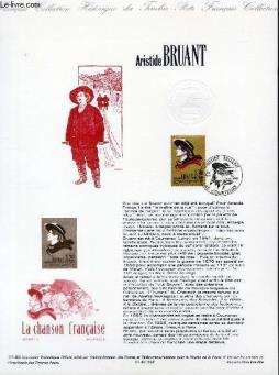 Document philatelique officiel n°21-90 - aristide bruant (n°2649 yvert et tellier)