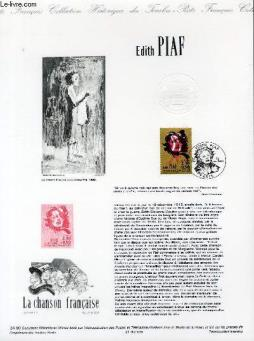 Document philatelique officiel n°24-90 - edith piaf (n°2652 yvert et tellier)